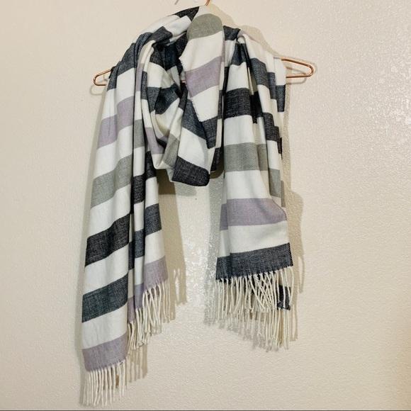 GAP Accessories - GAP   Cozy Bold Striped Scarf Lilac Stone One Size